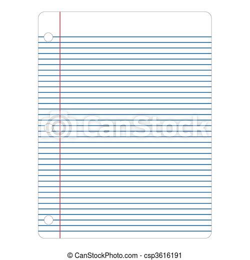 Vector Notebook Paper - csp3616191