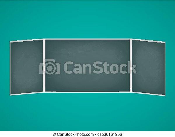 School chalkboard folding - csp36161956