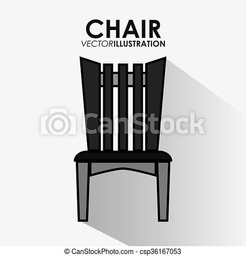 Stühle clipart  Clipart Vektor von daheim, vektor, verwandt, abbildung, stühle ...