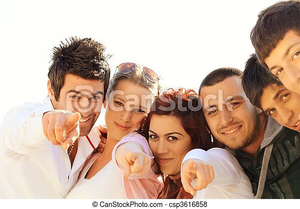 young Turkish student friends - csp3616858