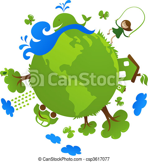 Green planet - csp3617077