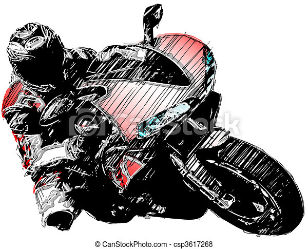 red motorcycle - csp3617268
