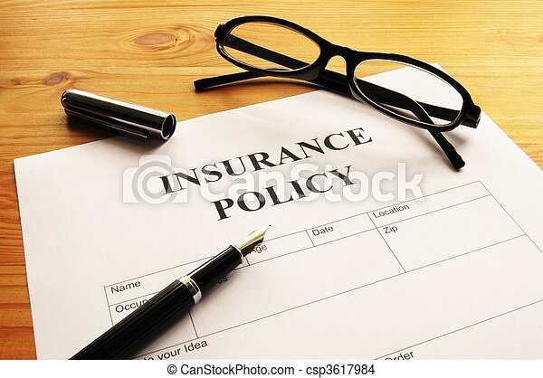 insurance policy - csp3617984