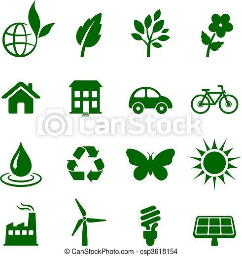environment elements icon set - csp3618154