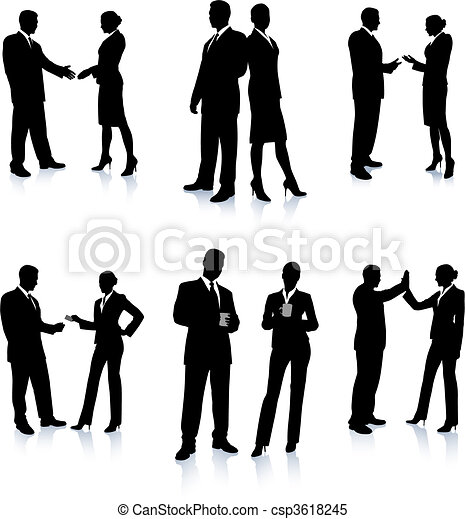 Business Team Silhouette Collection - csp3618245