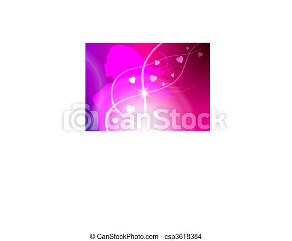 Sexy Woman Celebration with Light Streak - csp3618384
