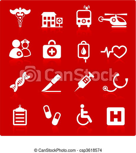 medical hospital  internet icon collection - csp3618574