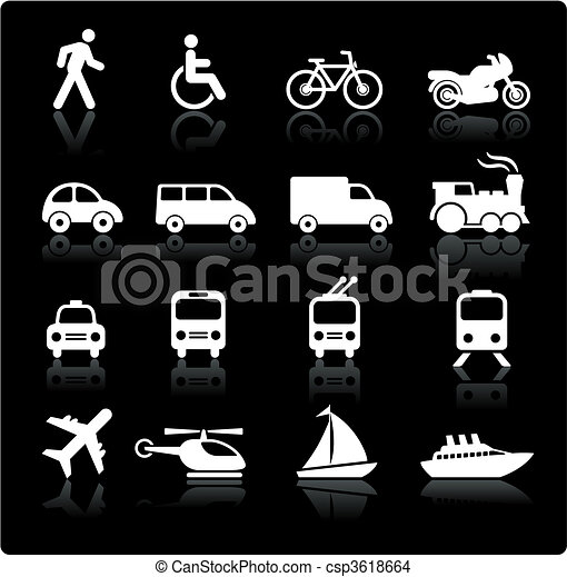Transportation icons design elements - csp3618664