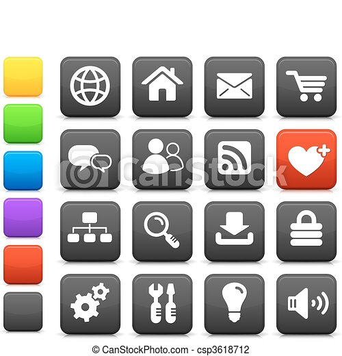 internet design icon set - csp3618712