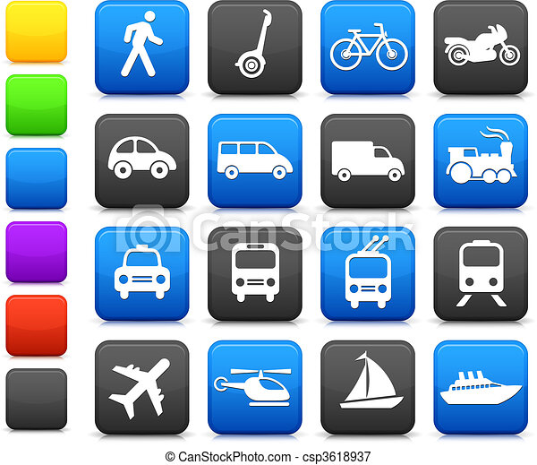 Transportation icons design elements - csp3618937
