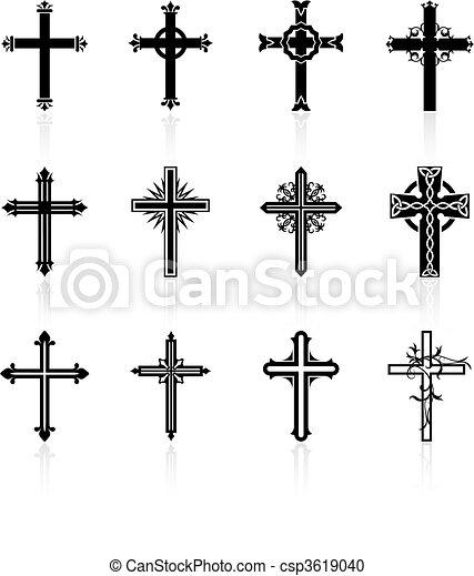 religious cross design collection - csp3619040
