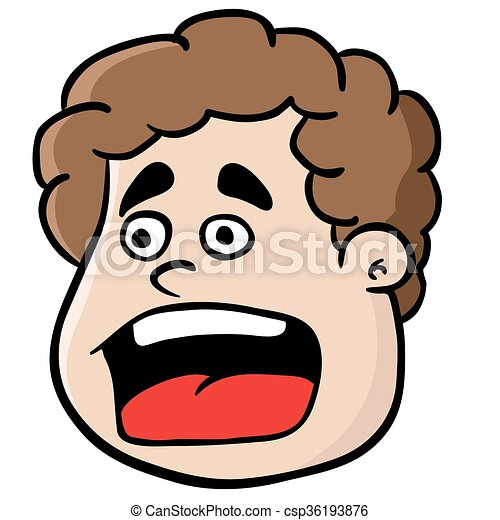 Vectors Illustration of fat boy screaming cartoon csp36193876 ...