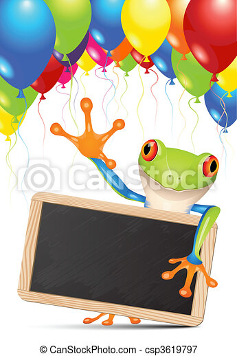 Little tree frog message - csp3619797