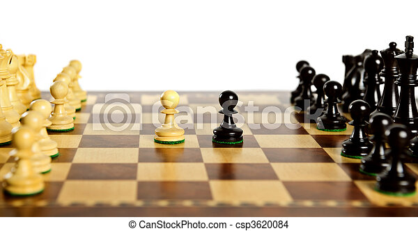 Chess pieces on board - csp3620084