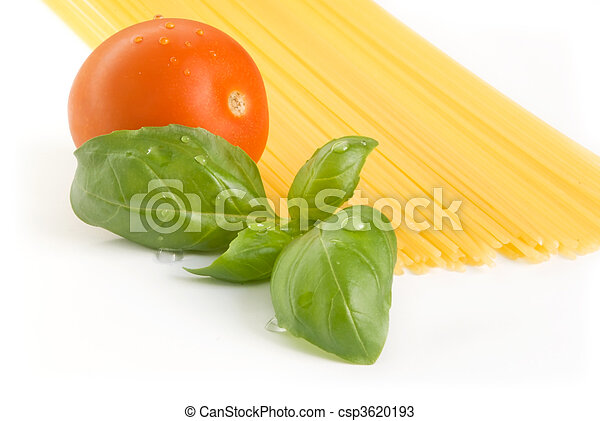 pasta tomato basil - csp3620193