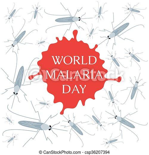 World Malaria Day poster - csp36207394