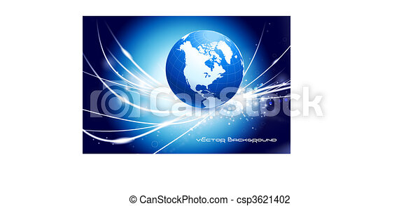 Globe on Abstract Modern Light Background - csp3621402