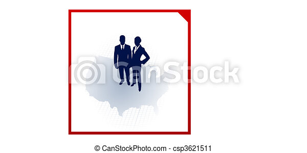 business team silhouettes on corporate elegance background - csp3621511