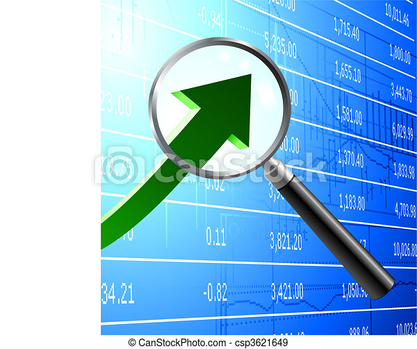 Focus on buying stock market background - csp3621649