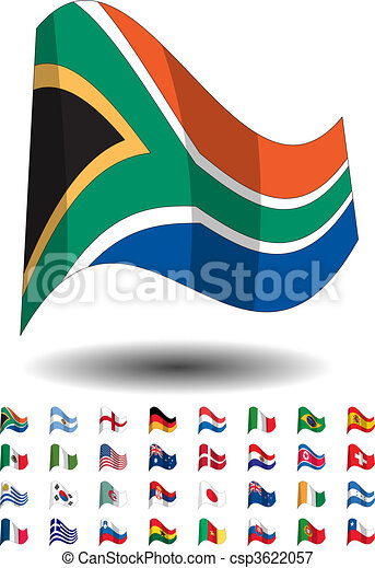 countries flags icons - csp3622057