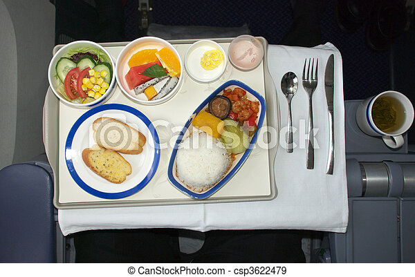 Airline meal - csp3622479