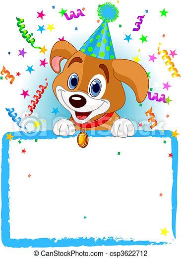 Baby Dog Birthday - csp3622712