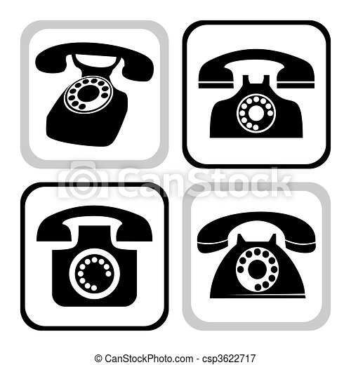 Vector telephone collection - csp3622717