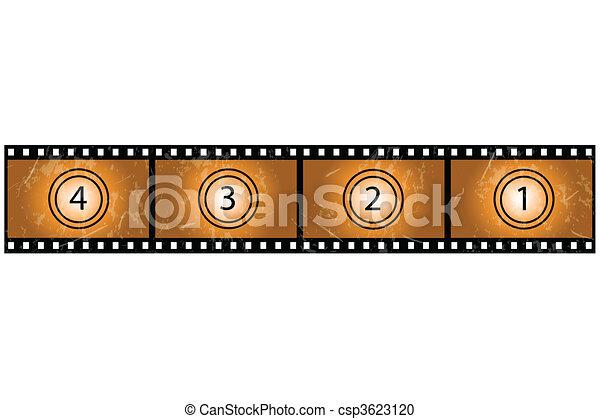 Grunge Film Reel - csp3623120