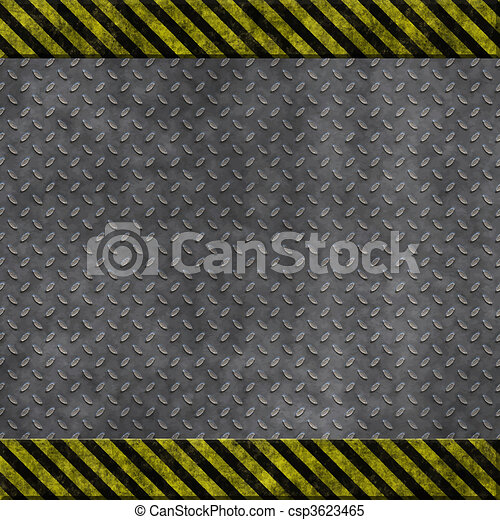 old metal hazard background - csp3623465