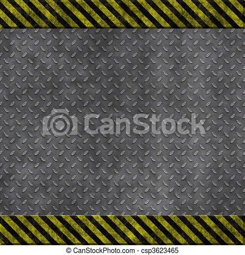 old metal hazard background - csp3623465
