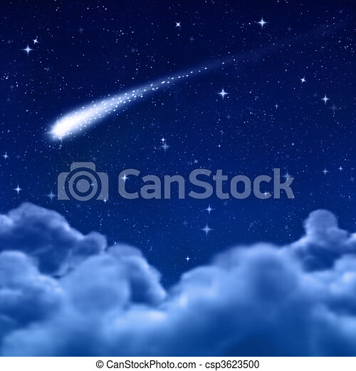 space or night sky through clouds - csp3623500
