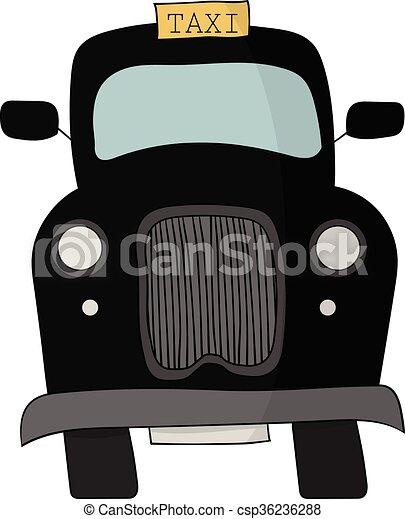 Vector of Black British Taxi Cab - A black British or ...