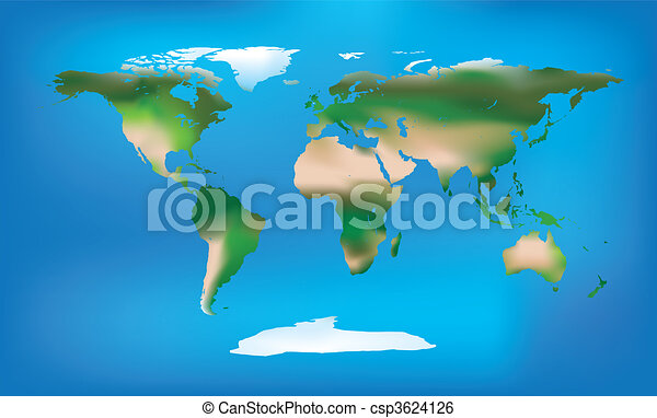 World map full colour and detailed - csp3624126