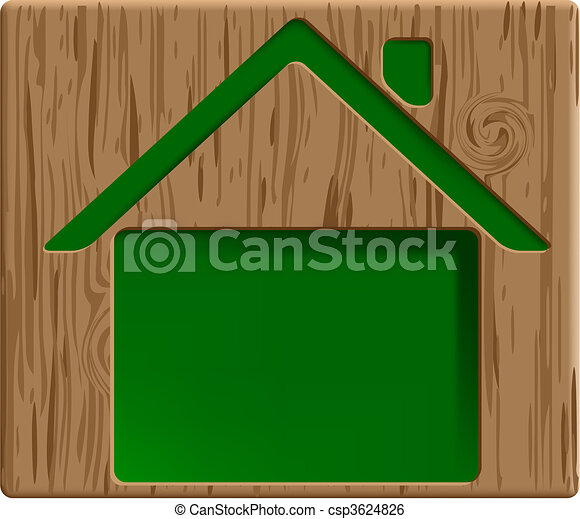engraved house - csp3624826