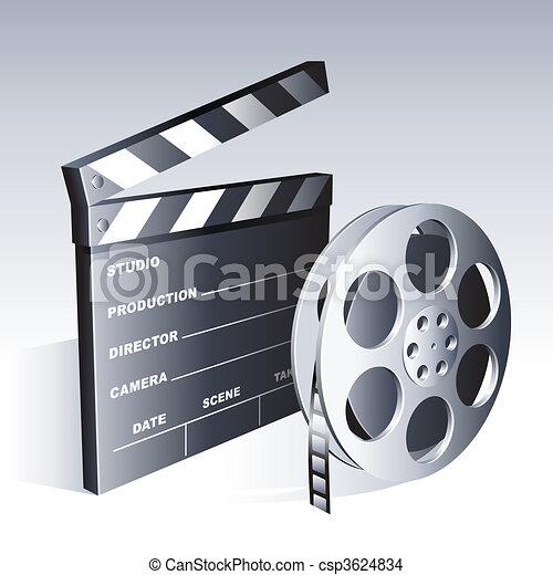 Movie symbols. - csp3624834