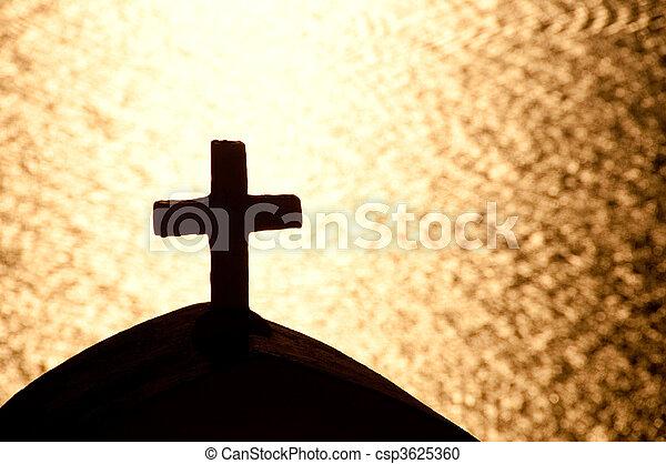 希腊的教堂 - csp3625360