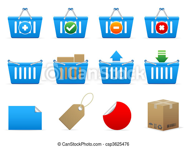 Shopping icons - csp3625476