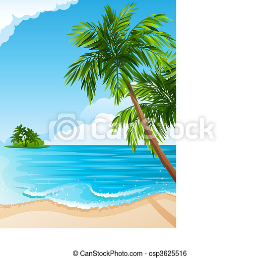 Tropical landscape - csp3625516