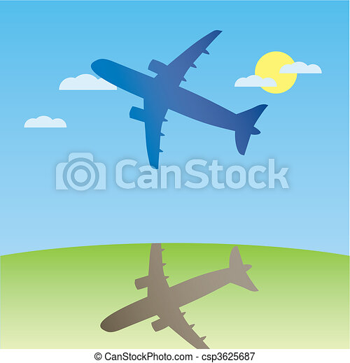 Airplane aero aviation silhouette.  - csp3625687
