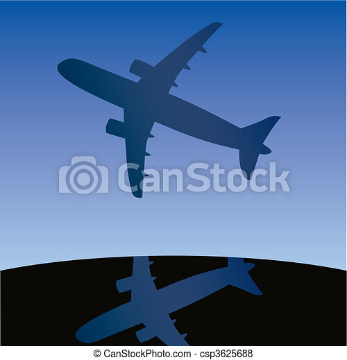 Airplane aero aviation silhouette.  - csp3625688