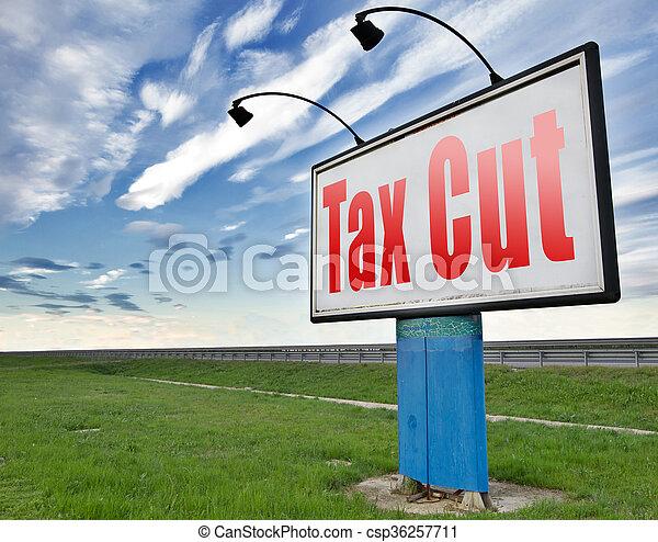 tax cut - csp36257711