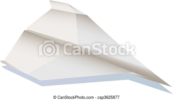 Paper plane in the air illustration - csp3625877