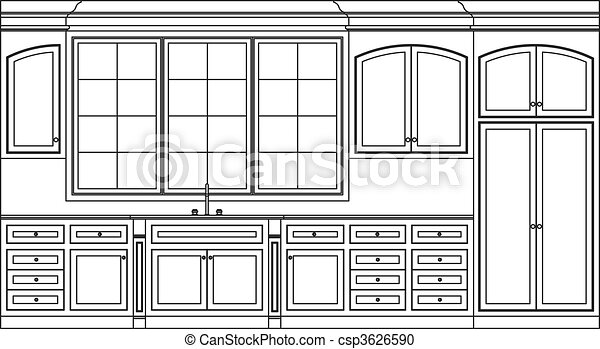 kitchen cabinets - csp3626590