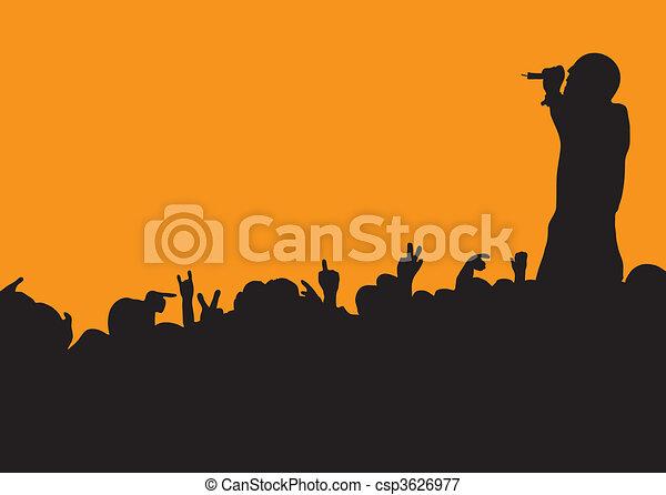 concert crowd wave - csp3626977