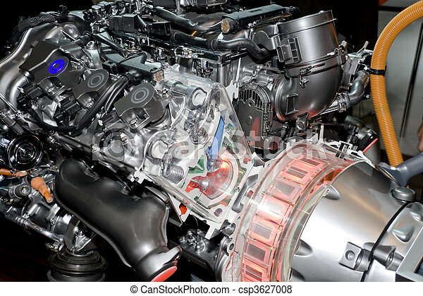 Automobile Hybrid Engine - csp3627008