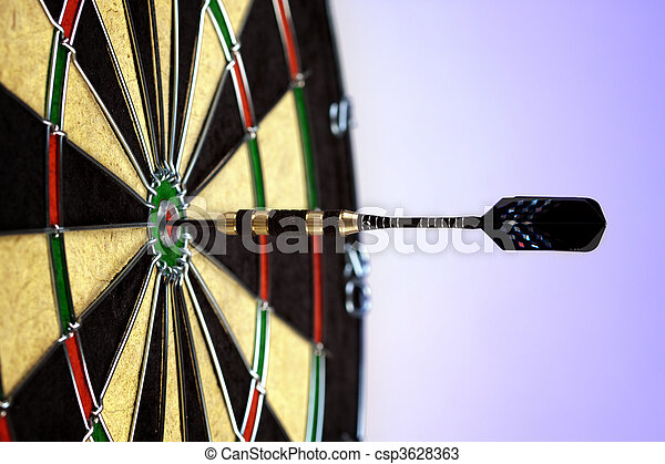 Bulls-eye game concept! - csp3628363