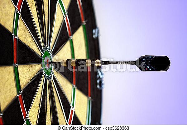 Bulls-eye game concept! - csp3628363