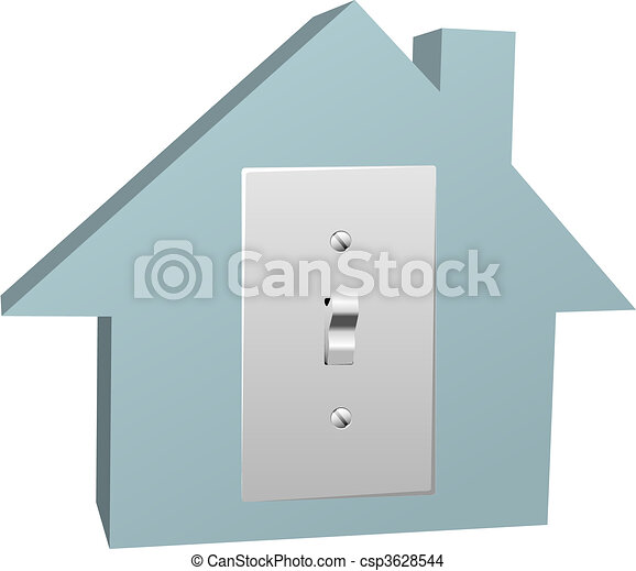 Electricity house switch on electric light at home - csp3628544
