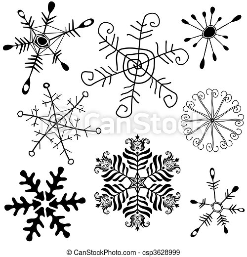 Collection snowflakes - csp3628999