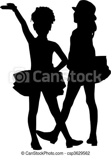 Silhouette children - csp3629562